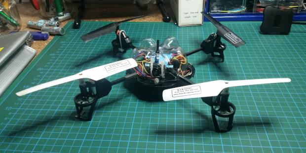 Ex-Spielzeug Drohne. Foto: Ulf Schleth