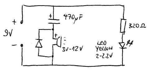 Kurzes Signal beim Einschalten - Schaltung 1